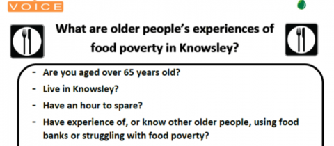 What are older people's experiences of food poverty in Knowsley?